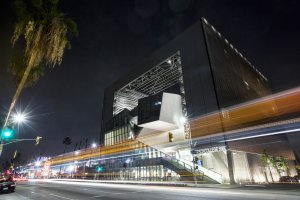 Emerson College in Los Angeles, CA, was designed by Morphosis architects.