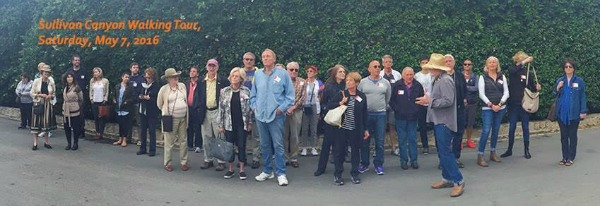 Jay Griffith leading guests at Sullivan Canyon VDS Tour 5.7.16 web