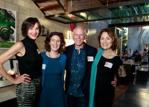 Architect Steven Ehrlich, with wife Nancy Griffin (far left) and two guests at a VDS event.