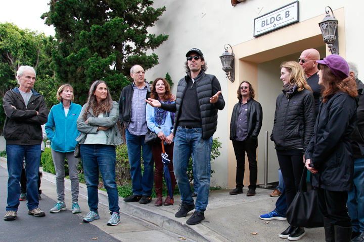 Culver Studios guide Roger explains layout of the Culver Studio lot.  Photo by Jack Prichett