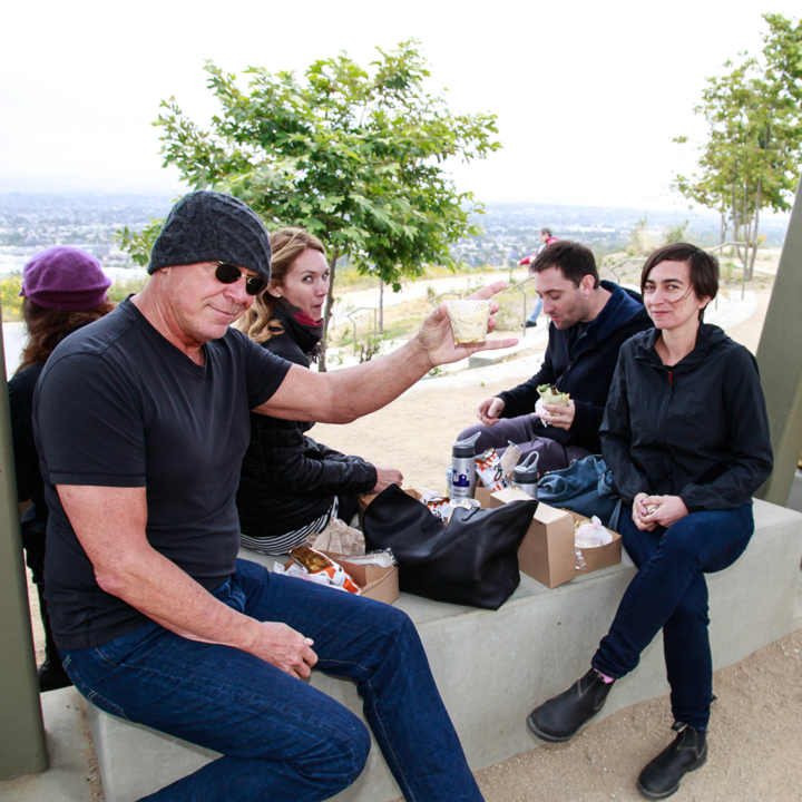 Lunch atop the Baldwin Hills, overlooking Culver City.  Photo by Jack Prichett