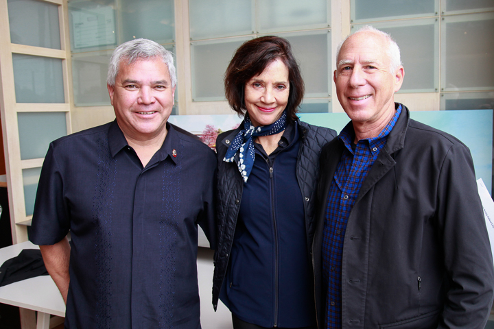 Left to right: Culver City vice-mayor Thomas Small and co-tour leader, Nancy Griffin, and Steven Ehrlich. Photo by Jack Prichett